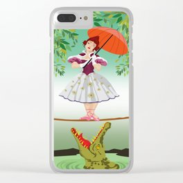 The Umbella girl With crocodile Clear iPhone Case