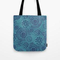 Tossed Blue mandalas Tote Bag
