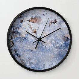frozen lakes II Wall Clock