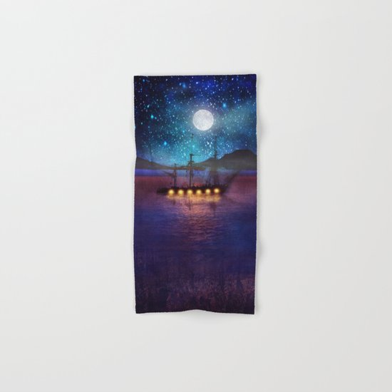 The lights and the Silent Water Hand & Bath Towel