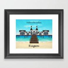 Seebrücke Sellin Framed Art Print