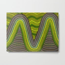 Aborigine abstract 9 Metal Print