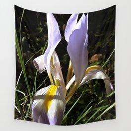 Algerian Iris Wildflower Painting Wall Tapestry