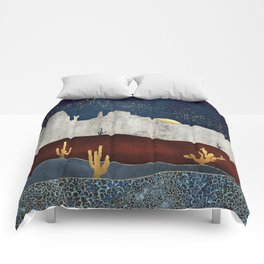Moonlit Desert Comforters