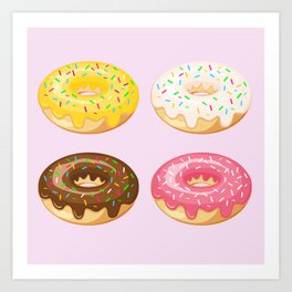 Donut Love Art Print