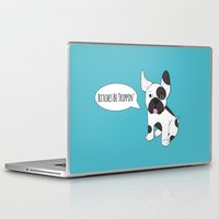 french bulldog Laptop & iPad Skins featuring French Bulldog!!  by Laura Maria Designs