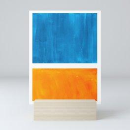 Colorful Jewel Tones Blue Gold Color Block Minimalist Watercolor Art Modern Simple Shapes Mini Art Print