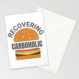 Recovering Carboholic Funny Low-Carb Keto Diet Gift Stationery Cards