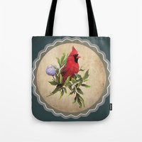 cardinal Tote Bags featuring Cardinal by Ludovic Jacqz
