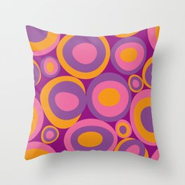 Bubbleroom in pink Throw Pillow