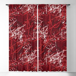 Year Old Art in Red Blackout Curtain