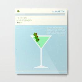 Martini Cocktail Art Metal Print