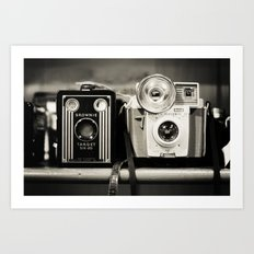 A pair of Kodak Brownies Art Print
