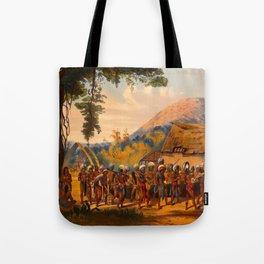Caribi Village Anai Illustrations Of Guyana South America Natural Scenes Hand Drawn Tote Bag