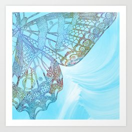 Colorful Abstract Butterfly Design Art Print