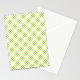 Yellow Lemon Green Fruit Pattern Stationery Cards
