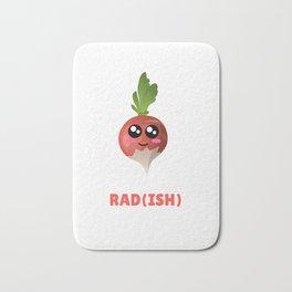 You Are Pretty Rad(ish) Cute Radish Pun Bath Mat