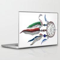 dreamcatcher Laptop & iPad Skins featuring Dreamcatcher by Ina Spasova puzzle