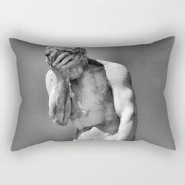Face Palm Rectangular Pillow