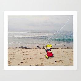 Menace Beach  Art Print