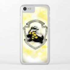Hufflepuff Splatter Clear iPhone Case
