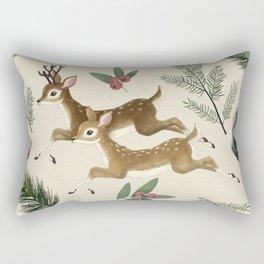 winter deer // repeat pattern Rectangular Pillow