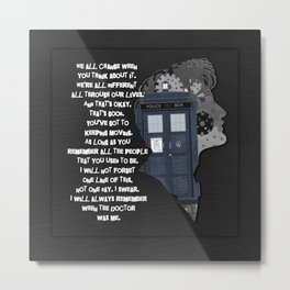 When the Doctor was me Metal Print