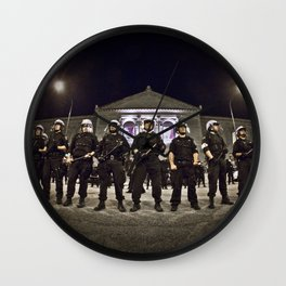 Standing Guard Wall Clock