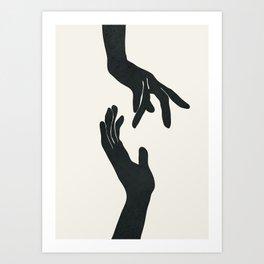 Abstract Hands Art Print