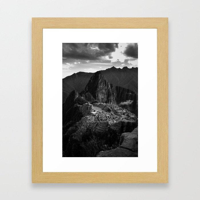Machu Picchu (B&W) Framed Art Print