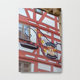 Zunfthaus Ulm Metal Print