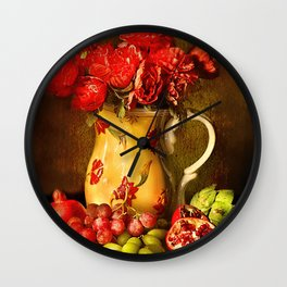 Flower and fruit Wall Clock