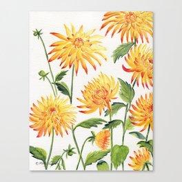 Dahlia Flowers 1 Canvas Print