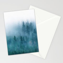 Foggy forest watercolor painting #1 Stationery Cards