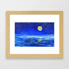 Ocean at Night Framed Art Print