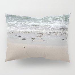 Seashore Sandpipers in tideland Pillow Sham