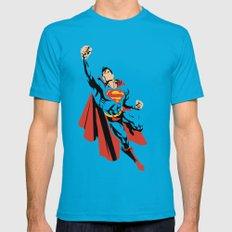 DC - Superman MEDIUM Mens Fitted Tee Teal