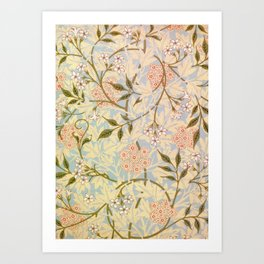 William Morris - jasmine - Digital Remastered Edition Art Print