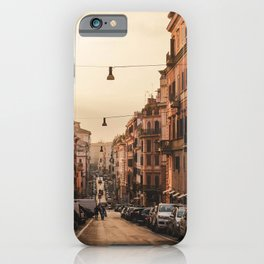 Streets in Rome iPhone Case