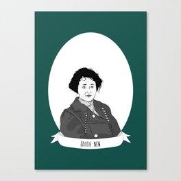 Edith New Illustrated Portrait Canvas Print