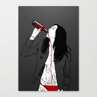 drink Canvas Prints featuring DRINK by CoCoCo