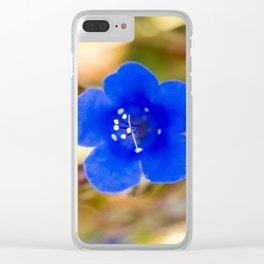 Desert Bluebell Alternate Perspective Clear iPhone Case