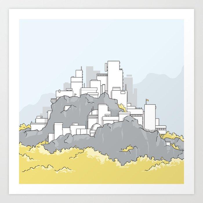 A city on a mountain Art Print