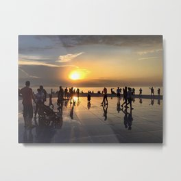 Sunset In Dubrovnik - Croatia Metal Print