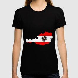Austrian Flag and Map T-shirt