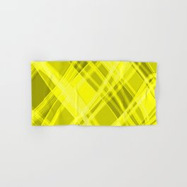 Swirling yellow ribbons with a pattern of light graceful stripes. Hand & Bath Towel