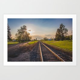 Railroad Tracks, Washburn, North Dakota 2 Art Print