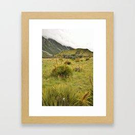 Grassy Landscape Framed Art Print