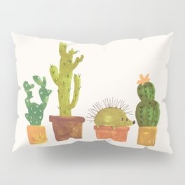 Hedgehog and Cactus (incognito) Pillow Sham