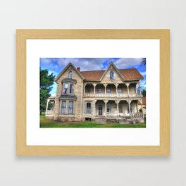 Spooky Old House Framed Art Print